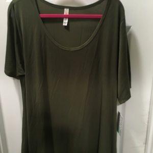LuLaRoe Tops - Lularoe Perfect 2xl Olive Green solid